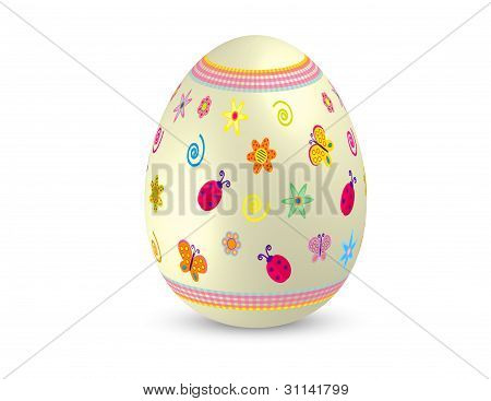 Decorated Easter Egg Vector Illustration