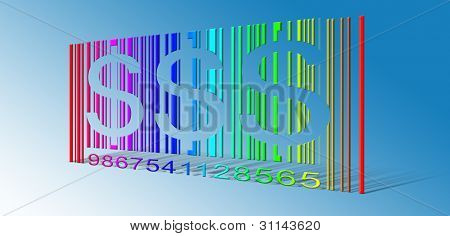 Dollar Rainbow Bar Code