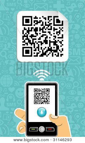 Mobile Phone Decoder Qr Code