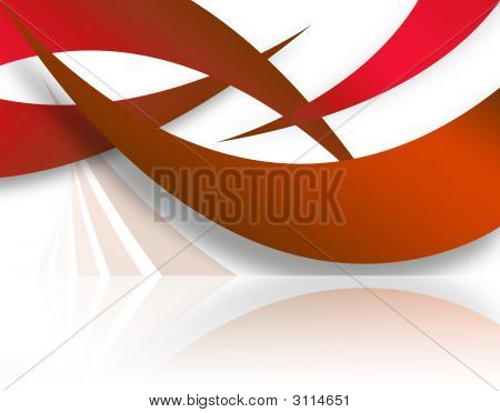 Red Abstract Swoosh Layout