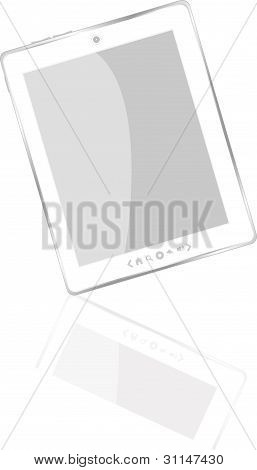 White abstract tablet pc ipad
