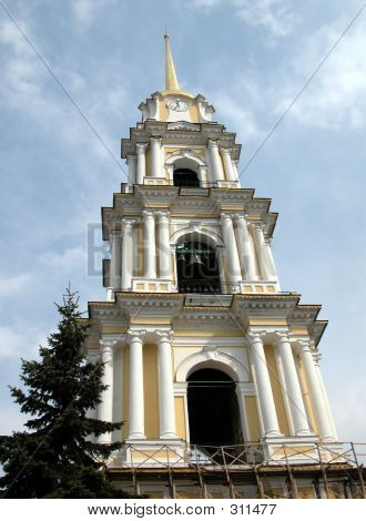 Russia, Rybinsk, Bell Tower Of Cathedral