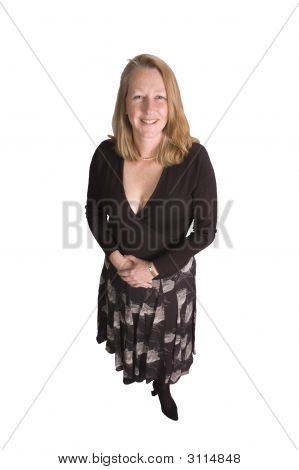Friendly Smiling Middle-Aged Woman