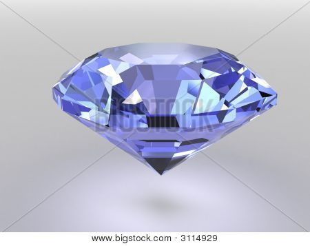 Blue Diamond With Soft Shadows