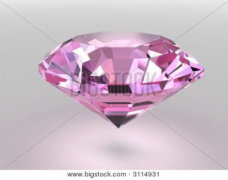 Pink Diamond With Soft Shadows