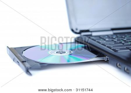 Laptop With A Disk