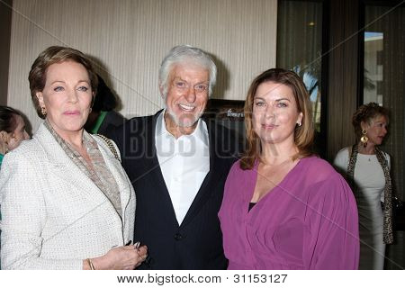 LOS ANGELES - MAR 18:  Julie Andrews, Dick Van Dyke, Arlene Silver arrives at the Professional Dancer's Society Gypsy Awards at the Beverly Hilton Hotel on March 18, 2012 in Los Angeles, CA