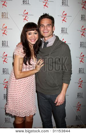 LOS ANGELES - MAR 16:  Diana DeGarmo, Greg Rikaart arrives at the Young & Restless 39th Anniversary Party hosted by the Bell Family at the Palihouse on March 16, 2012 in West Hollywood, CA