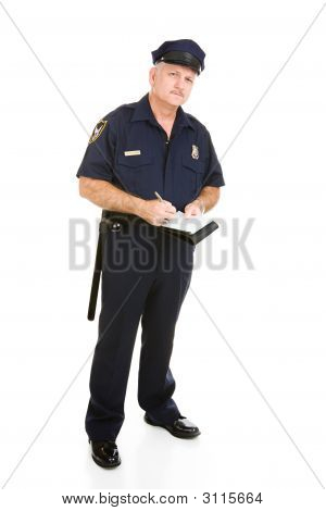 Police Officer On The Job