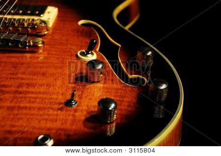 Guitar Hollowbody Closeup