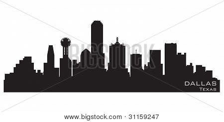 Dallas, Texas Skyline. detaillierte Vector silhouette