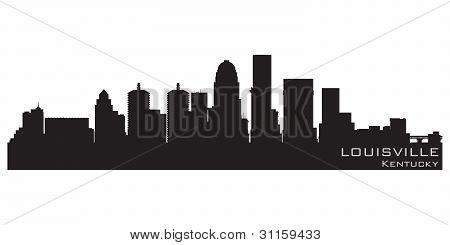 Skyline de Louisville, Kentucky. Vector detalhadas Silhouette