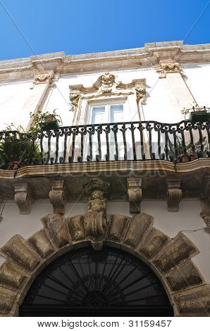 Magli Palace. Martina Franca. Puglia. Italy.