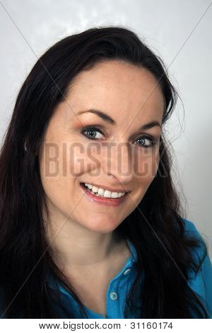 Beautiful, Friendly Brunette, Headshot (2)