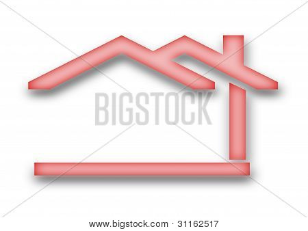 有山墙屋顶的房子