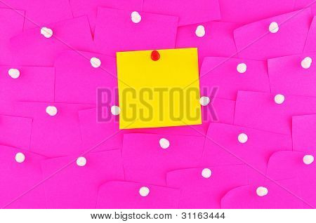 Sticky Note On Pin