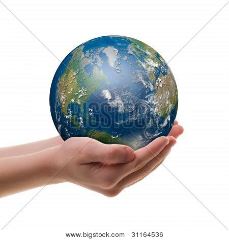 Earth In Childs Hands