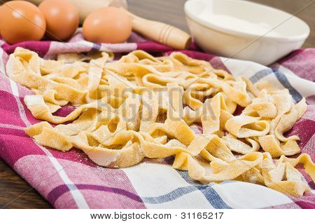 Homemade fresh pasta.