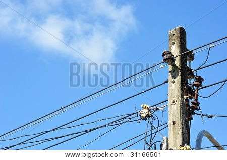 Light Poles And Wires