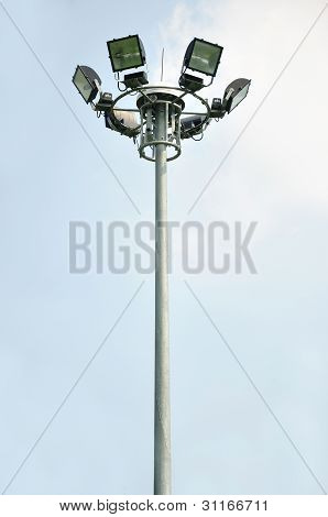 Light Pole On Blusky Background