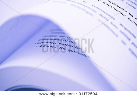 Book Pages Abstract Macro - Soft Focus