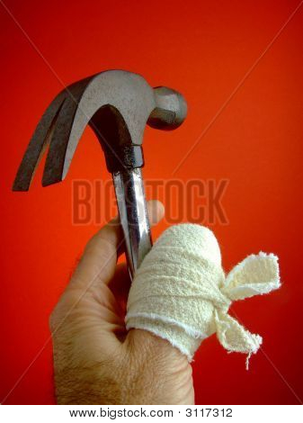 Sore Thumb With Hammer