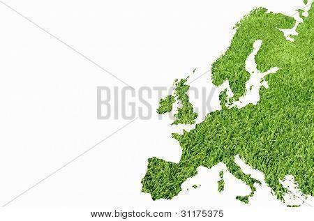 Europa mapa de textura de grama verde
