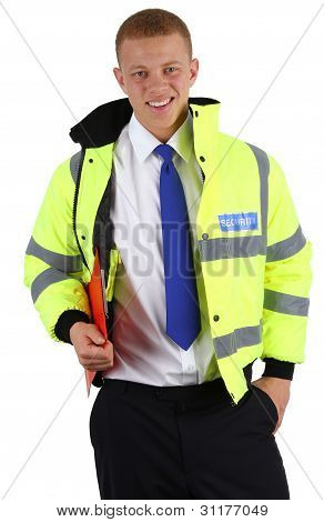 Security Guard Holding A Clipboard