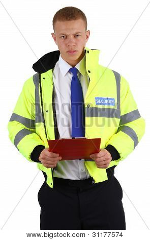Security Guard With A Clipboard