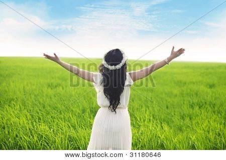 Woman Expressing Freedom