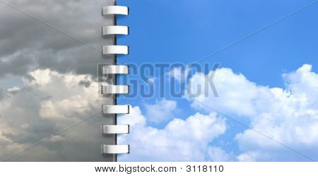 Notebook With Skies Pages