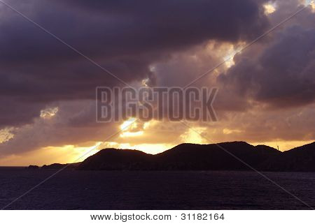 Sunset in Tortola British Virgin Isles