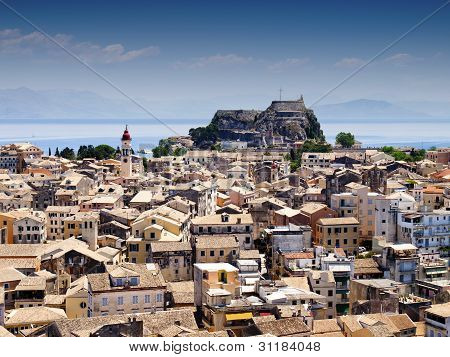 Panorama of the city of Corfu