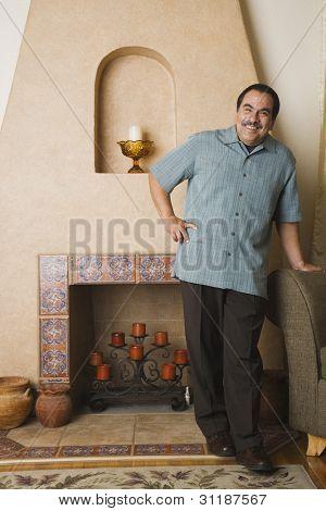 Portrait of middle-aged Hispanic man