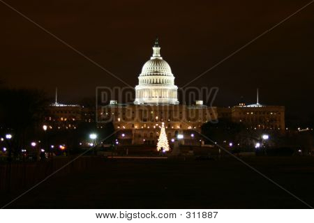 Capitol Hill At Night