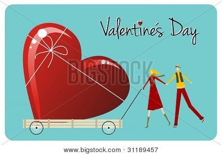 Biggest Love. Happy Valentines Day Greeting Card