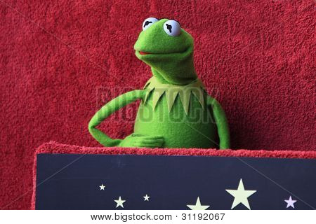 LOS ANGELES, CA - MAR 20: Kermit at a ceremony where The Muppets are honored with 2,466th Star on the Hollywood Walk of Fame on March 20, 2012 in Los Angeles, California