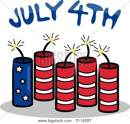 Holiday Firecracker Flag July 4Th