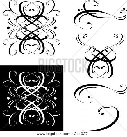 Decorative Elements Scrolls