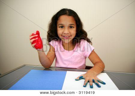 Mädchen-Malerei
