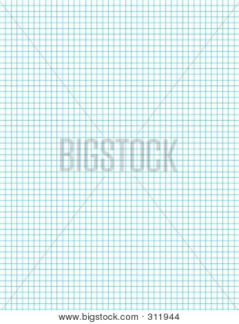 Grid Blue On White Graph Paper