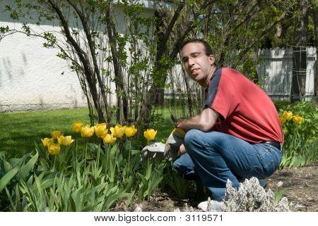 Jardineiro feliz