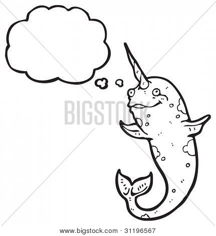 happy narwhal cartoon