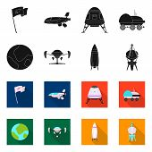 Isolated Object Of Mars And Space Icon. Set Of Mars And Planet Bitmap Icon For Stock. poster