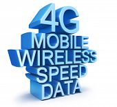 4G latest wireless communication technology standard 3d illustration