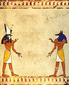 foto of horus  - Background with Egyptian gods images  - JPG