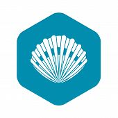 Pearl Shell Icon. Simple Illustration Of Pearl Shell Vector Icon For Web poster