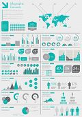 Detail Infographic Vector Illustration. World Map And Information Graphics poster
