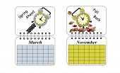 stock photo of daylight saving time  - An illustration of Daylight Savings Time setting clocks forward in the Spring and backward in the Fall - JPG