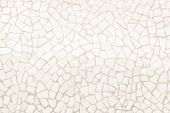 Broken Tiles Mosaic Seamless Pattern. Cream Dark Tile Wall High Resolution Photo Or Brick Seamless W poster